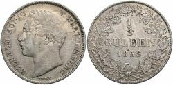 World Coins - GERMAN STATES: Wurttemburg Wilhelm 1838 1/2 Gulden