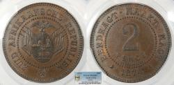 World Coins - SOUTH AFRICA 1874 Pattern 2 Pence PCGS SP-64 BN