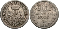 World Coins - GERMAN STATES: Brunswick-Luneburg-Calenberg 1694 4 Groschen