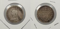 World Coins - GREAT BRITAIN: 1893 Victoria. 3 Pence