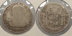 World Coins - BOLIVIA: 1774-Potosi JR Charles III 2 Reales
