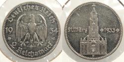 World Coins - GERMANY: 1934-A 2 Mark