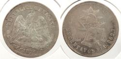 World Coins - MEXICO: 1871-Pi O 25 Centavos