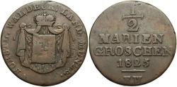 World Coins - GERMAN STATES: Waldeck-Pyrmont 1825 1/2 Mariengroschen
