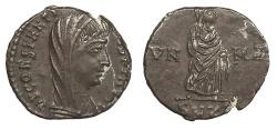 Ancient Coins - Divus Constantine I Died 337 A.D. AE4 Cyzicus Mint Near EF