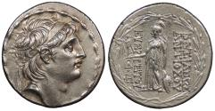 Ancient Coins - Seleukid Kings Antiochus VII 138-129 B.C. Tetradrachm EF