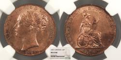 World Coins - GREAT BRITAIN Victoria 1841 Farthing NGC MS-63 RB