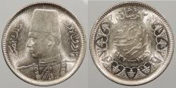 World Coins - EGYPT: AH 1356 / 1937 Farouk 2 Piastres