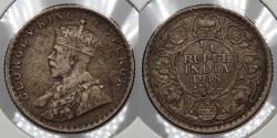 World Coins - INDIA: 1918( c) George V 1/4 Rupee