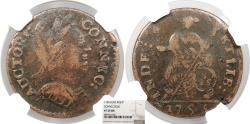 Us Coins - 1785 Connecticut Copper Colonial Coinage Mailed bust right; Miller 3.3-F.3; W-2335 NGC VF-35