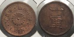 World Coins - JAPAN: Yr. 16 (1883) Rin