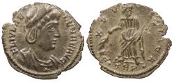 Ancient Coins - Helena, mother of Constantine I 324-328 A.D. AE4 Trier Mint Good VF