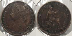World Coins - GREAT BRITAIN: 1887 Farthing