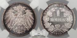 World Coins - GERMANY Wilhelm II 1915-G Mark NGC MS-66