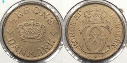 World Coins - DENMARK: 1924 1/2 Krone