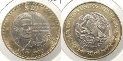 World Coins - MEXICO: 2000 20 Pesos