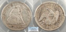 Us Coins - 1853/4 Seated Liberty; Arrows and Rays 25 Cents (Quarter) FS-1301 PCGS VF-20