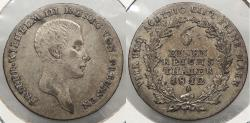 World Coins - GERMAN STATES: Prussia 1812-A 1/6 Thaler