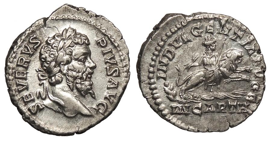 Ancient Coins - Septimius Severus 193-211 A.D. Denarius Rome Mint EF