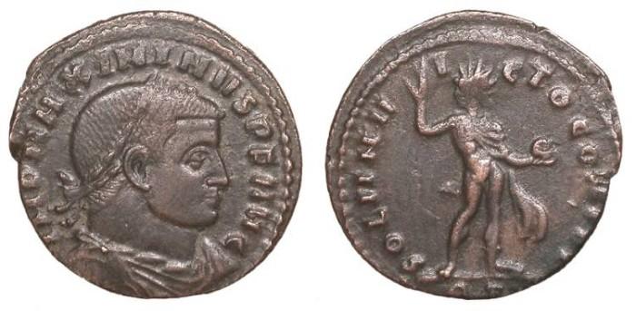Ancient Coins - Maximinus II 309-313 A.D. Follis Rome Mint VF