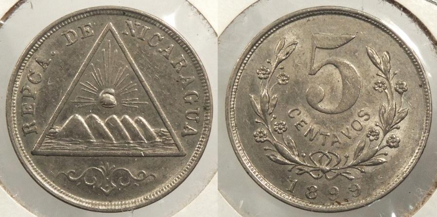 World Coins - NICARAGUA: 1899 5 Centavos #WC63508