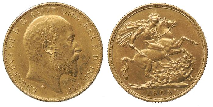 World Coins - GREAT BRITAIN Edward VII 1902 Matte Proof Sovereign Proof