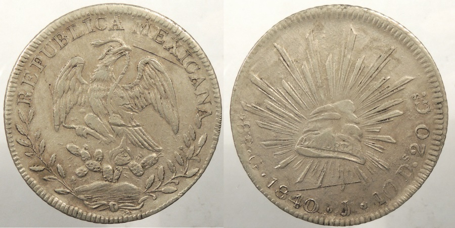 World Coins - MEXICO: 1840-G J 8 Reales