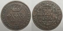 World Coins - BRAZIL: 1820-R 20 Reis