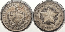 World Coins - CUBA: 1920 20 Centavos