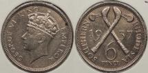 World Coins - SOUTHERN RHODESIA: 1937 Sixpence
