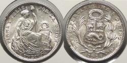 World Coins - PERU: 1916-FG Dinero