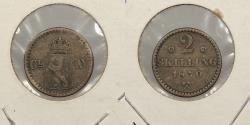 World Coins - NORWAY: 1870 2 Skilling