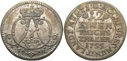 World Coins - GERMAN STATES: Munster Bishopric 1755 1/12 Thaler