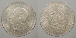 World Coins - MEXICO: 1957 Peso