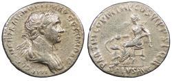 Ancient Coins - Trajan 98-117 A.D. Denarius Rome Mint VF