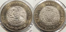 World Coins - MEXICO: 1994-Mo Sterling silver center with aluminum-bronze ring. 10 Nuevos Pesos