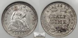 Us Coins - 1853 Seated Liberty; Arrows 5 Cent (Silver) NGC MS-62