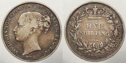 World Coins - GREAT BRITAIN: 1853 Shilling