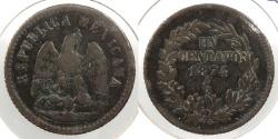 World Coins - MEXICO: 1874-Ga Centavo