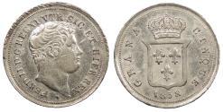 World Coins - ITALIAN STATES Naples & Sicily Ferdinando II 1838 5 Grana AU/UNC