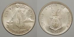 World Coins - PHILIPPINES: 1945-S 50 Centavos