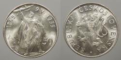 World Coins - CZECHOSLOVAKIA: 1955 50 Korun