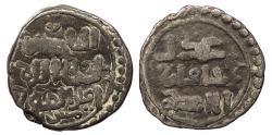 World Coins - Chingizid (Great Mongols) Chingiz (Genghis) Khan AH 603-624 (1206-1227 A.D.) Jital Ghazna mint Near VF
