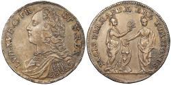 World Coins - FRANCE Nurnberg? ND (Ca. 1719) Silver-plated-Brass 24mm Jeton AU