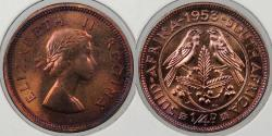 World Coins - SOUTH AFRICA: 1953 Elizabeth II 1/4 Penny Proof
