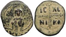 Ancient Coins - Anonymous, Time of Constantine IX 1042-1055 A.D. Follis Constantinople Mint VF