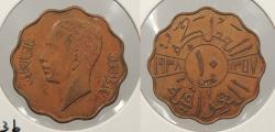 World Coins - IRAQ: 1938 10 Fils