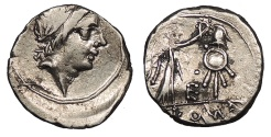 Ancient Coins - Anonymous 81 B.C. Quinarius Rome Mint Good VF