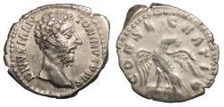 Ancient Coins - Divus Marcus Aurelius Died 180 A.D. Denarius Rome Mint Near EF