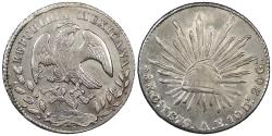 World Coins - MEXICO 1879-Oa AE 8 Reales UNC